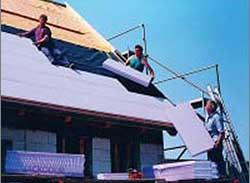 斜屋顶东莞xps挤塑保温板的应用